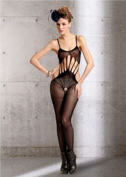 Peacock Crotchless Sleevless Body Stocking