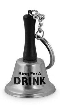 Ring for a Drink Keyring Bell