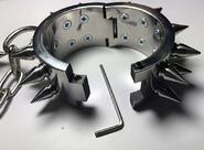 Spiked Metal Wrist Shackles