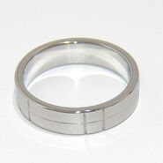 Steel Grooved Cock Ring