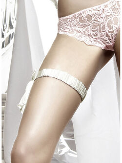 Satin Leg Garter OS White