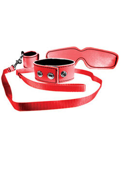 Sex & Mischief Bondage Kit Red