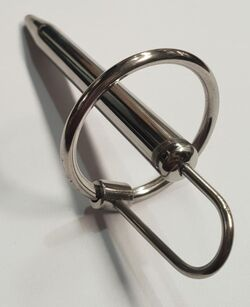 The Royal Solid Penis Plug with Glans Ring XL