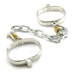 Unisex Luxury Dungeon Irons Cuffs With Chain